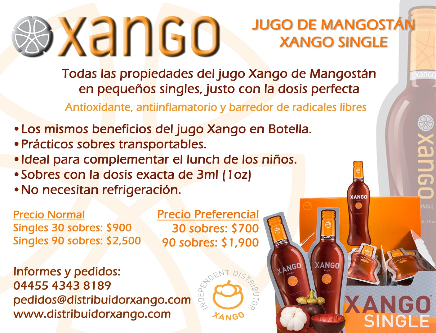 Productos xango distribuidor xango for Productos para singles